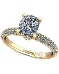 Macy's | Diamond Pavé Mount Setting (1/2 Ct. T.w.) In 14k Gold | Lyst