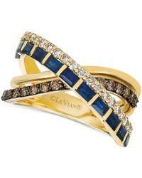 Le Vian - ® Sapphire (1 Ct. T.w.) & Diamond (3/4 Ct. T.w.) Crisscross Ring In 14k Gold - Lyst