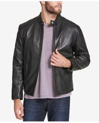 8ac5cfe98 Armani Exchange Men's Leather Moto Jacket in Black for Men - Lyst