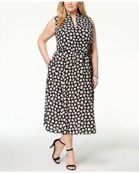 Anne Klein - Plus Size Zuma Floral-print Midi Dress - Lyst