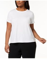 Eileen Fisher - Plus Size System Stretch Jersey T-shirt - Lyst