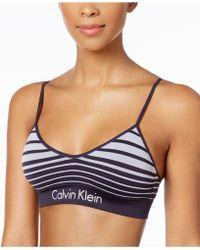 CALVIN KLEIN 205W39NYC - Striped Logo-band Bralette Qf4707 - Lyst