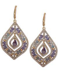 Lonna & Lilly - Pavé & Stone Beaded Chandelier Earrings - Lyst