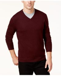 Alfani - Men's V-neck Sweater, Only At Macy's - Lyst