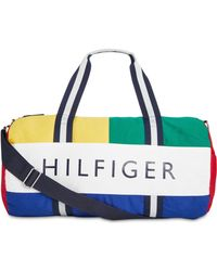 79f8d5c10 Tommy Hilfiger - Dougie Hp Colorblocked Logo Duffel Bag, Created For Macy's  - Lyst
