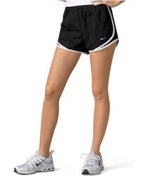 Nike | Shorts, Dri-fit Black Tempo Track | Lyst
