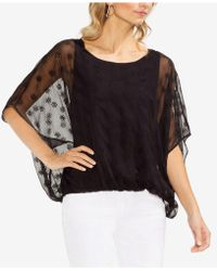 Vince Camuto - Embroidered Eyelet Blouse - Lyst