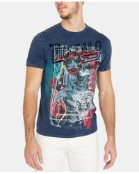 eb192281a95d Guess UO Exclusive 81 Sayer Stripe T-shirt in Blue for Men - Lyst