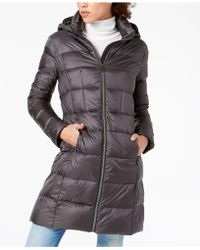 0101582f4bc7 Michael Kors - Michael Petite Hooded Packable Puffer Coat - Lyst