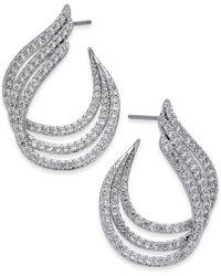 Danori - Silver-tone Pavé Triple Hoop Earrings - Lyst