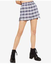 BCBGeneration - Plaid Side-tie Shorts - Lyst