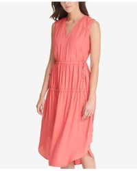 DKNY - Ruched V-neck Dress, Created For Macy's - Lyst