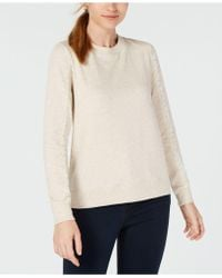 Maison Jules - Lace-trimmed Sleeve Sweatshirt, Created For Macy's - Lyst