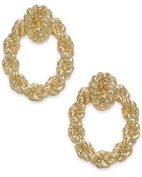 Charter Club - Gold-tone Knotted Rope Doorknocker Drop Earrings, Created For Macy's - Lyst