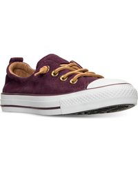 Converse | Women's Chuck Taylor Shoreline Perf Suede Casual Sneakers From Finish Line | Lyst