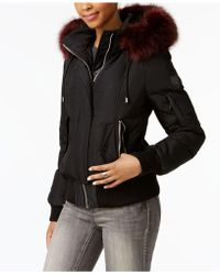 Vince Camuto - Mixed-media Down Bomber Coat - Lyst