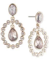 Givenchy - Gold-tone Crystal & Stone Orbital Drop Earrings - Lyst