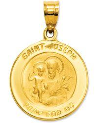 Macy's - 14k Gold Charm, Saint Joseph Medal Charm - Lyst