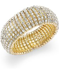 INC International Concepts | Gold-tone Crystal Stone Stretch Bracelet | Lyst