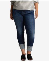 Silver Jeans Co. - Plus Size Elyse Cuffed Straight Jeans - Lyst