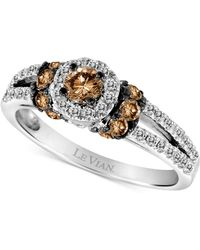 Le Vian - Chocolatier® Diamond Halo Ring (3/4 Ct. T.w.) In 14k White Gold - Lyst