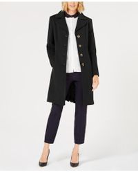 Anne Klein - Petite Single-breasted Coat - Lyst