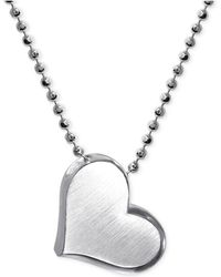 Alex Woo | Heart Pendant Necklace In Sterling Silver | Lyst