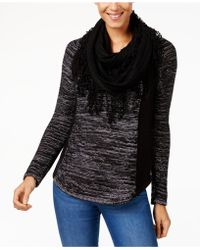 Style & Co. - Removable-scarf Sweater - Lyst