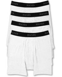 422404eeb35 Supreme Hanes Tagless Boxer Briefs Underwear S (4) in White for Men ...