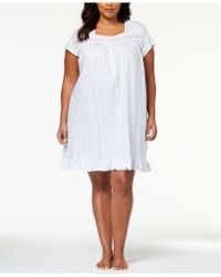 Eileen West - Plus Size Cotton Venise-lace Knit Nightgown - Lyst