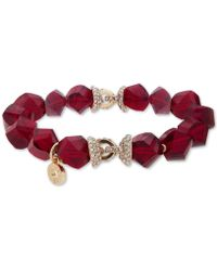 Anne Klein - Faceted Bead & Crystal Stretch Bracelet, Created For Macy's - Lyst