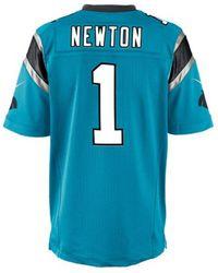 Nike - Men's Cam Newton Carolina Panthers Game Jersey - Lyst