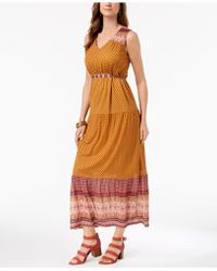 Style & Co. - Petite Printed Maxi Dress, Created For Macy's - Lyst