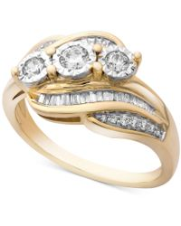 Wrapped in Love - Tm Diamond Three-stone Ring (1/2 Ct. T.w.) In 14k Gold, Created For Macy's - Lyst