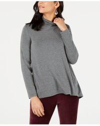 Style & Co. - Petite Mock-neck Top, Created For Macy's - Lyst