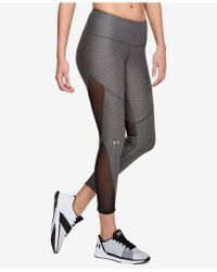 Under Armour - Heatgear® Mesh-inset Compression Workout Leggings - Lyst