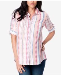Splendid - Maternity Printed Button-front Blouse - Lyst