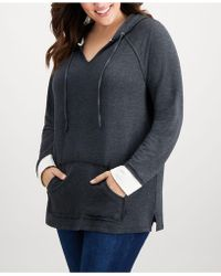 Style & Co. - Plus Size Heathered Hoodie, Created For Macy's - Lyst
