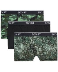 2xist - 2(x)ist Stretch 3 Pack No Show Trunk (hand Drawn Star Print Black/salsa Red/stripe Black) Men's Underwear - Lyst