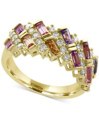 Effy Collection - Multi-sapphire (1-3/8 Ct. T.w.) And Diamond (1/2 Ct. T.w.) Ring In 14k Gold - Lyst