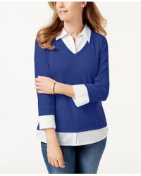 Karen Scott - Cotton Layered-look Top, Created For Macy's - Lyst
