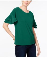 INC International Concepts - I.n.c. Ruffled-sleeve Top, Created For Macy's - Lyst