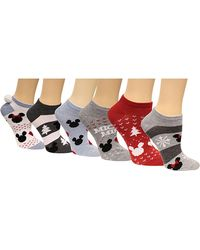 Disney - Women's 6 Pk. Mickey & Minnie Mouse No-show Socks - Lyst