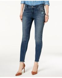 INC International Concepts - I.n.c. Studded Frayed-hem Skinny Jeans, Created For Macy's - Lyst