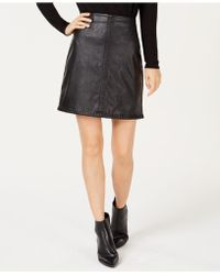 INC International Concepts - I.n.c. Petite Faux Leather Whip Stitch Mini Skirt, Created For Macy's - Lyst
