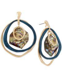 Robert Lee Morris - Gold-tone & Patina Abalone-look Orbital Drop Earrings - Lyst