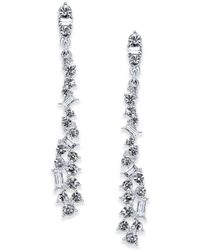 INC International Concepts - Silver-tone Crystal Linear Drop Earrings, Created For Macy's - Lyst