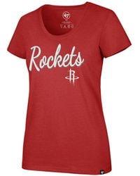 47 Brand - Houston Rockets Script Scoop T-shirt - Lyst
