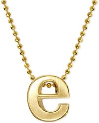 Alex Woo - Initial Pendant Necklace In 14k Gold - Lyst
