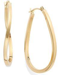 Macy's - Twist Hoop Earrings In 10k Gold - Lyst